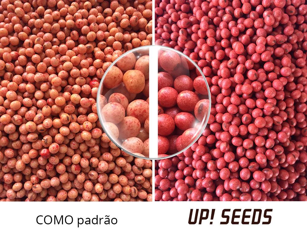 Homogeneidade do recobrimento em tratamento de sementes